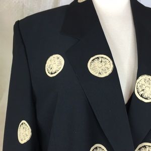 Jackets & Coats - Black & Tan Blazer